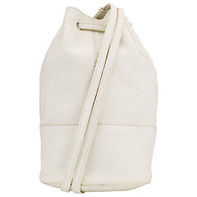 Buy Collection WEEKEND by John Lewis Lilian Mini Bucket Leather Backpack, White Online at johnlewis.com