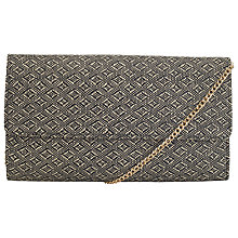 Buy COLLECTION by John Lewis Straw Clutch Bag, Black Online at johnlewis.com