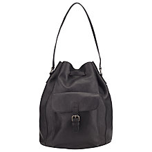 Buy Collection WEEKEND by John Lewis Kyra Bucket Leather Backpack, Black Online at johnlewis.com