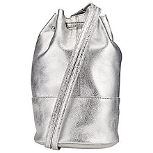 Buy Collection WEEKEND by John Lewis Leather Lilian Mini Backpack, Silver Online at johnlewis.com