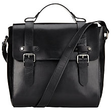 Buy Collection WEEKEND by John Lewis Maeve Leather Across Body Messenger Bag, Black Online at johnlewis.com