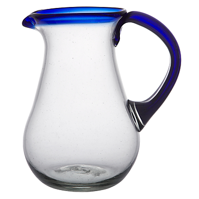 John Lewis Alfresco Recycled Glass Jug, Blue