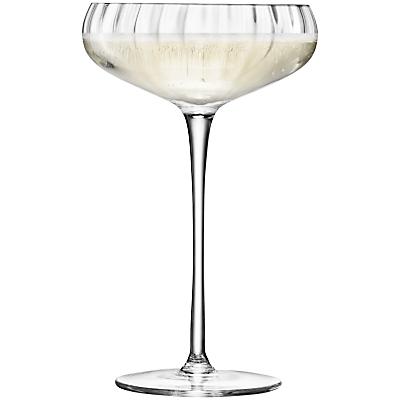 LSA International Aurelia Glass Champagne Saucers 300ml, Set of 4