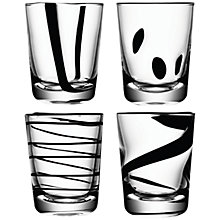 Buy LSA International Jazz Black Tumblers, Set of 4 Online at johnlewis.com