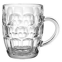 Buy John Lewis Beer Dimple Tankard Glass Online at johnlewis.com