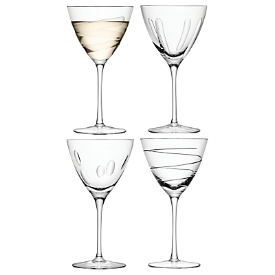 LSA International Charleston Wine Goblets, Set of 4