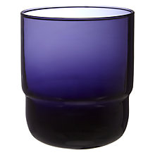 Buy John Lewis Stackable Glass Tumbler, Large, Navy Online at johnlewis.com
