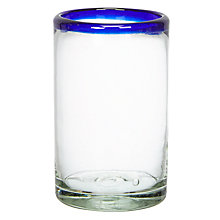 Buy John Lewis Alfres Recycled Glass Tumbler, Blue Online at johnlewis.com