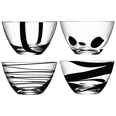 LSA International Jazz Black Bowls, Set of 4
