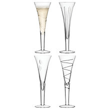 Buy LSA International Charleston Champagne Flutes, Set of 4 Online at johnlewis.com