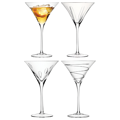 LSA International Charleston Cocktail Glasses, Set of 4