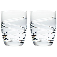 Buy Jasper Conran for Waterford Aura Tumblers, Set of 2 Online at johnlewis.com