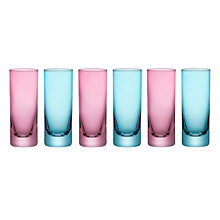 Buy John Lewis Miami Shot Glasses, Set of 6, Pink/Teal Online at johnlewis.com
