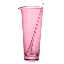Buy John Lewis Miami Jug and Stirrer, Pink Online at johnlewis.com