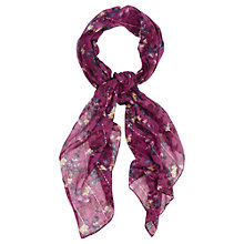 Buy Oasis Shadow Floral Shoot Scarf, Deep Pink Online at johnlewis.com