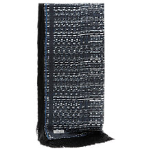Buy Reiss Cobain Fringed Printed Scarf, Blue Online at johnlewis.com