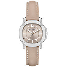 Buy Burberry BBY1700 Women's The Britain Leather Strap Watch, Smoked Trench Online at johnlewis.com