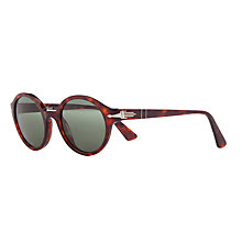 Buy Persol PO3098S Polarised Round Frame Sunglasses, Havana Online at johnlewis.com
