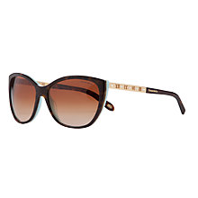 Buy Tiffany & Co TF4094B Sunglasses, Blue/Brown Online at johnlewis.com