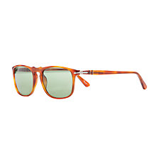 Buy Persol PO3059S Square Polarised Sunglasses, Terra Di Siena Online at johnlewis.com