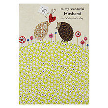 Buy Blue Eyed Sun Husband Picnic Time Valentine's Greeting Card Online at johnlewis.com