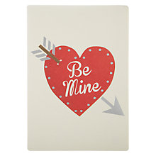 Buy James Ellis Stevens Be Mine Heart Retro Press Card Valentine's Card Online at johnlewis.com