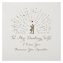 Buy Five Dollar Shake Darling Wife - Love You, Sparkle Valentine's Card Online at johnlewis.com