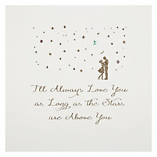 Buy Five Dollar Shake I'll Always Love You Stars Above Valentine's Card Online at johnlewis.com