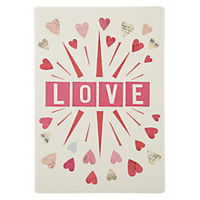 Buy James Ellis Stevens Love And Hearts Retro Press Valentine's Card Online at johnlewis.com