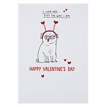Buy Hotchpotch I Love You Just The Way I Am Valentine's Card Online at johnlewis.com