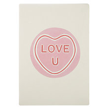 Buy James Ellis Stevens Love U Sweet Retro Press Valentine's Card Online at johnlewis.com