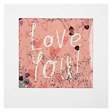 Buy James Ellis Stevens Love You Heart Pattern Shakies Valentine's Card Online at johnlewis.com