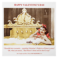 Buy Cardmix Spend Valentine's In A Prince's Arms Valentine's Card Online at johnlewis.com