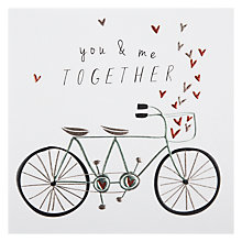 Buy Belly Button You And Me Together Valentine's Card Online at johnlewis.com