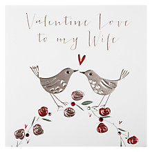 Buy Belly Button Valentine Love To My Wife Valentine's Card Online at johnlewis.com