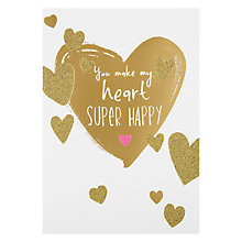 Buy Hotchpotch You Make My Heart Super Happy Valentine's Card Online at johnlewis.com