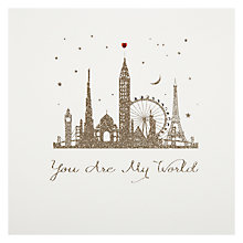 Buy Five Dollar Shake You Are My World (buildings) Valentine's Card Online at johnlewis.com