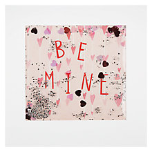 Buy James Ellis Stevens Be Mine Hanging Hearts Shakies Valentine's Card Online at johnlewis.com