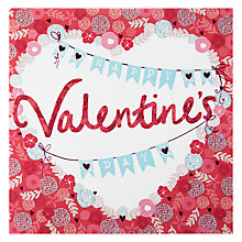 Buy Hotchpotch Happy Valentine's Day Floral Border Greeting Card Online at johnlewis.com