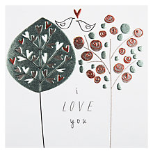 Buy Belly Button I Love You Valentine's Card Online at johnlewis.com