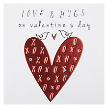 Buy Belly Button Love And Hugs On Valentine's Day Greeting Card Online at johnlewis.com
