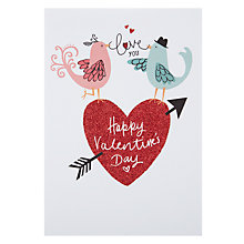 Buy Hotchpotch Love You Birds Valentine's Card Online at johnlewis.com