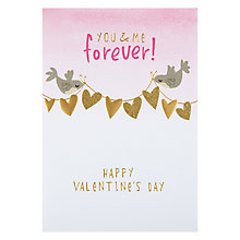 Buy Hotchpotch You & Me Forever Valentine's Card Online at johnlewis.com
