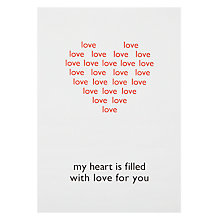Buy Hype Wrapped Heart Filled Valentine's Card Online at johnlewis.com