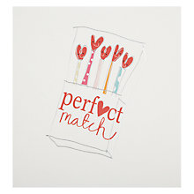 Buy Caroline Gardner Perfect Match Valentine's Card Online at johnlewis.com