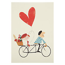 Buy Art File Tandem Bike Love Valentine's Card Online at johnlewis.com