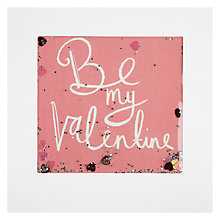 Buy James Ellis Stevens Pink Be My Valentine Shakies Valentine's Card Online at johnlewis.com