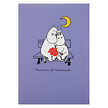 Buy Hype Wrapped Moomin Love Seat Valentine's Card Online at johnlewis.com