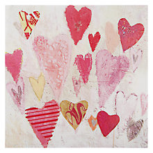 Buy Black Olive Pink Hearts Valentine's Card Online at johnlewis.com