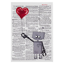 Buy Art Press Robot Love Valentine's Card Online at johnlewis.com